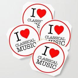 I Love Classical Music, circle Coaster
