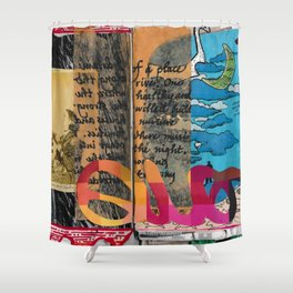 Worlds of Thought Shower Curtain