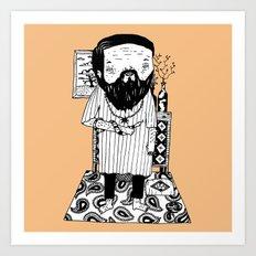 Snake Master Art Print