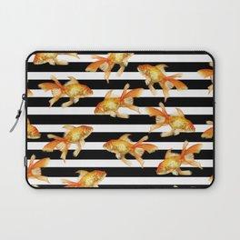 The Golden One II - b&w stripes Laptop Sleeve