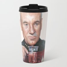 Tea. Earl Grey. Hot. Captain Picard Star Trek | Watercolor Travel Mug