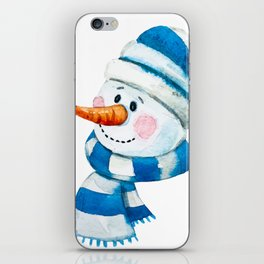 Blue Snowman 01 iPhone Skin
