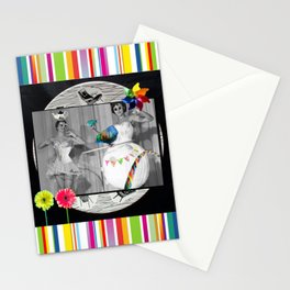 Hooping Homemakers with a blue fish (and other things) Stationery Cards