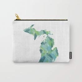 Painted Michigan, Abstract, Blue and Green Carry-All Pouch