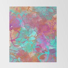 color splatter watercolor digital print Throw Blanket
