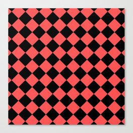 Rhombus (Black & Red Pattern) Canvas Print