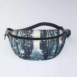 Magical Forest Teal Gray Elegance Fanny Pack