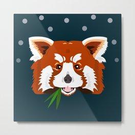Rascal Red Panda Metal Print
