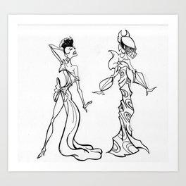 Enchanted Ladies Art Print
