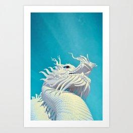 Rising Dragon by #Bizzartino Art Print
