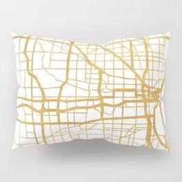 MILWAUKEE WISCONSIN CITY STREET MAP ART Pillow Sham