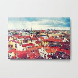 Prague panorame city Metal Print
