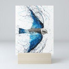 Blue Bird Listener Mini Art Print
