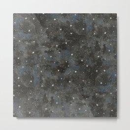 Watercolor Black Starry Sky Robayre Metal Print
