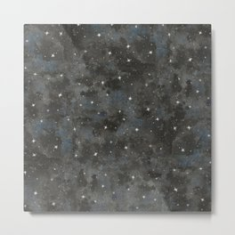 Watercolor Black Starry Sky Robayre Metal Print