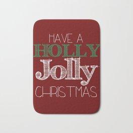 Holly Jolly Christmas Bath Mat
