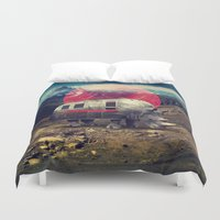 rhino Duvet Covers featuring Rhino by Ali GULEC