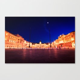 The square of Trieste during Christmas time Canvas Print