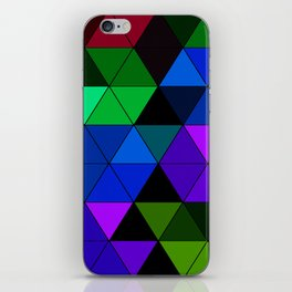Colorful Triangle Mosaic iPhone Skin