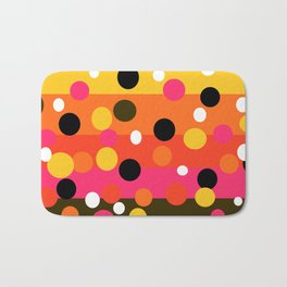 Earth and Summer Sky - Color Strips with Circles Bath Mat