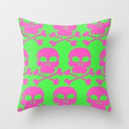 Skull Crazy- Watermelon Throw Pillow