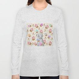 CUPCAKES AND WEIMARANER Long Sleeve T-shirt