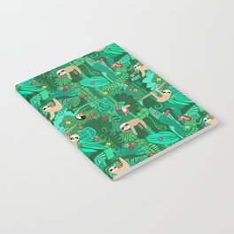 Sloths in the Emerald Jungle Pattern Notebook