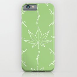 Smooth Japanese Maple Pattern iPhone Case
