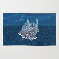 snape Area & Throw Rugs featuring Hogwarts series (year 6: the Half-Blood Prince) by Tanguy Leysen
