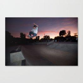Zander Gabriel. Frontside Tuck Knee Canvas Print
