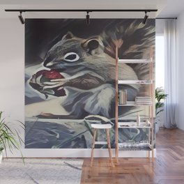 Squirrel Eating a Berry Wall Mural