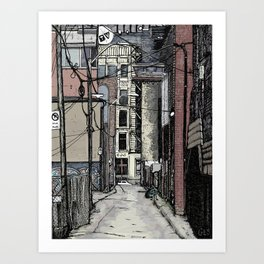 Queen St. West Alley Art Print