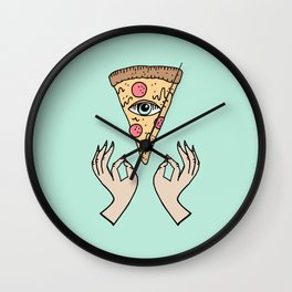 All Mighty Cheesus Wall Clock