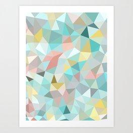 Pastel Tris Art Print