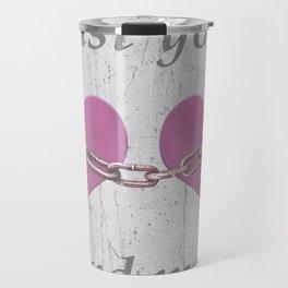 Shabby Chich Love Concept Poster Travel Mug