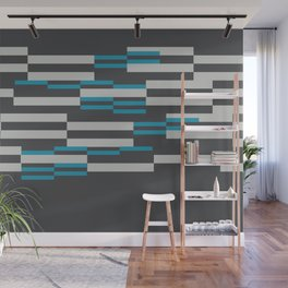 Rectangles Stripes grey background Wall Mural