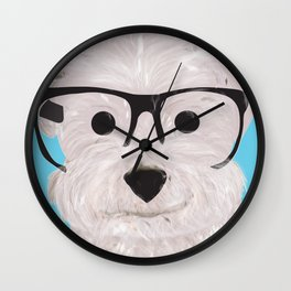 Happy Puppy Wall Clock