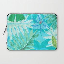 My blue abstract Aloha Tropical Flower Jungle Garden Laptop Sleeve