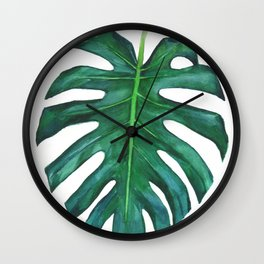 Mostera palm leaf Wall Clock