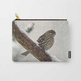 Facing the Storm (House Finch) Carry-All Pouch