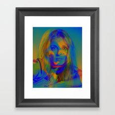 Sharon the blue mix Framed Art Print