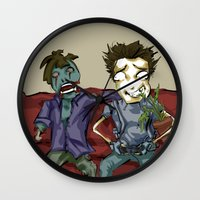 resident evil Wall Clocks featuring playing resident evil by Toubab