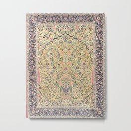 Douglass Mughal 'Millefleurs' North Indian Rug Print Metal Print