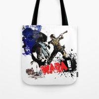 poland Tote Bags featuring Poland Wara! by viva la revolucion