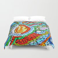 geode Duvet Covers featuring Sunset Fire - Geode by Cindy White Photo Art