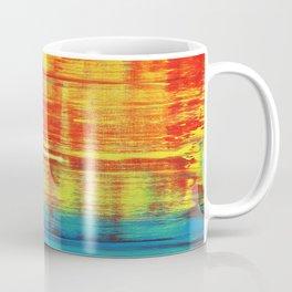 Sunny Sunset, Colorful Abstract Art Coffee Mug