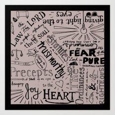 Psalm 19 Art Print