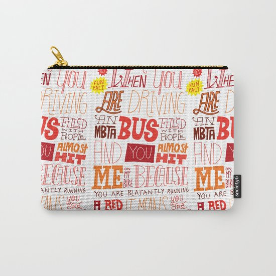 MBTA: Fun Fact! Carry-All Pouch