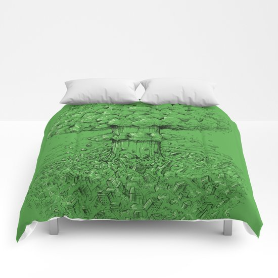 Green Apocalypse Comforters