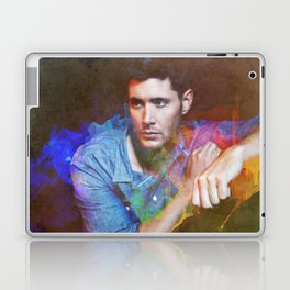 Jensen Ackles Watercolour Abstract Laptop & iPad Skin